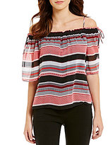 I.N. San Francisco Striped Off-The-Shoulder Top