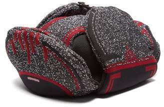 Prada Logo-jacquard Trapper Hat - Mens - Red Multi