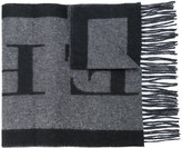 Burberry logo scarf - men - Cashmere - One Size