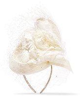 Philip Treacy Crystal-embellished Veiled Headpiece - Ivory
