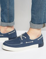 Timberland Newport Bay Canvas Boat Shoes