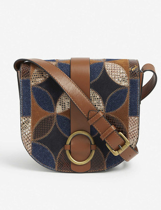 Sessun Tessao patchwork leather cross-body bag