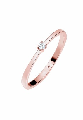 Diamore Women's 925 Sterling Silver Solitaire Engagement Ring R 1/2 0601432318_58