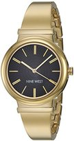 Nine West Women's Quartz Metal and Alloy Dress Watch, Color:Gold-Toned (Model: NW/1916BKGB)