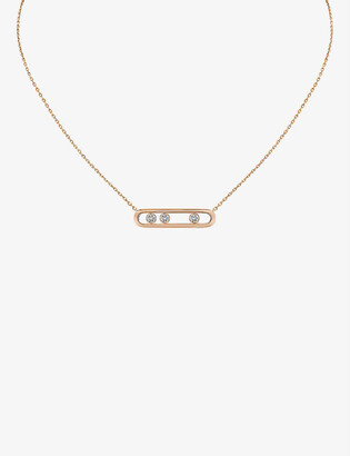 Messika Move 18ct rose-gold and diamond necklace