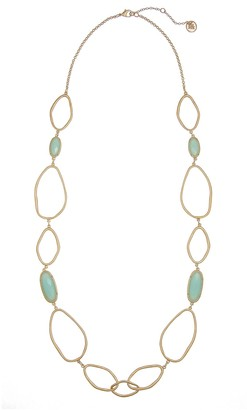 The Sak Mint Open Link Long Necklace
