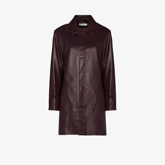 Richard Malone Recycled Leather Coat