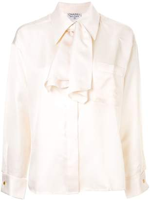Chanel Pre-Owned oversized pussy bow blouse
