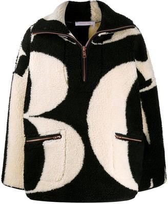 See by Chloe Letter Print Fleece Jacket