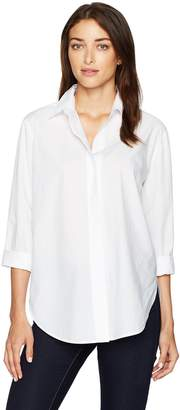 NYDJ Women's Cotton Poplin Wide Placket Blouse