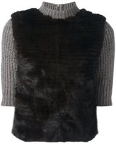 Eleventy contrast sleeve jumper