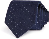 Theory Textured Ground Stripe Dot Skinny Tie