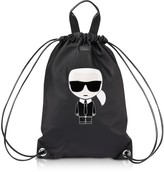 Karl Lagerfeld Paris K/Ikonik Nylon Flat Backpack