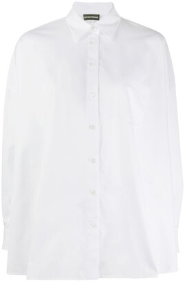 Emporio Armani Wide Hem Long Sleeve Shirt