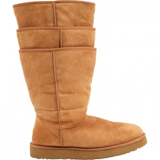 Y/Project Beige Suede Boots