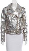 Blumarine Metallic Leather Jacket