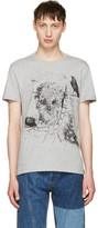 Alexander McQueen Grey London Map T-Shirt