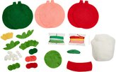 Dimensions Simple Cheer Ornaments Felt Applique Kit, 4-Inch by 4.5-Inch, Set of 3