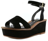 Kensie Tray Open Toe Synthetic Wedge Sandal.