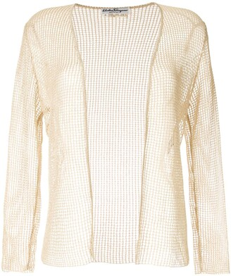 Salvatore Ferragamo Pre Owned Knitted Mesh Jacket