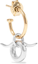 Charlotte Chesnais Horn Gold-dipped And Silver Earring - one size