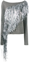 A.F.Vandevorst silver fringe jumper - women - Virgin Wool - M