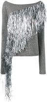 A.F.Vandevorst silver fringe jumper