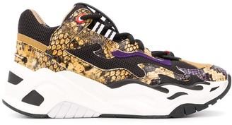 Just Cavalli High Top Snakeskin Effect Sneakers