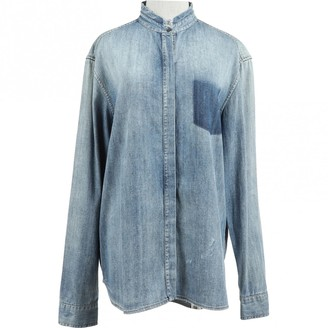 Pierre Balmain Blue Cotton Top for Women