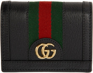 Gucci Black Ophidia Card Case Wallet