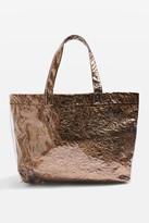 Topshop SALLY Metallic Shopper Bag