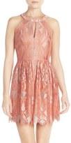 BCBGMAXAZRIA 'Megyn' Lace Fit & Flare Dress