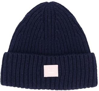 N. Mini Pansy Face beanie hat