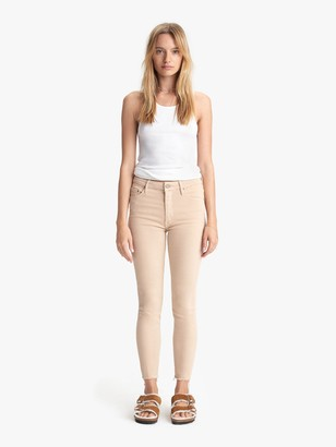Mother The High Waisted Looker Ankle Fray - Khaki