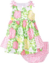 Bonnie Baby Baby-Girls Infant Cabbage Rose Print Sundress