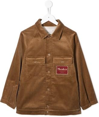 Gucci Kids Monsters-patch corduroy shirt-jacket