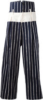 Yohji Yamamoto striped cropped pants - men - Cotton - 4