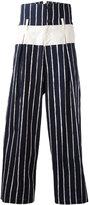 Yohji Yamamoto striped cropped pants