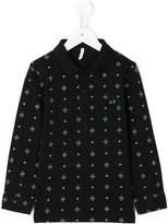 Sun 68 Kids symmetric pattern polo shirt