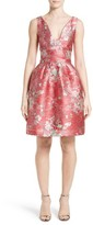 Carolina Herrera Women's Floral Jacquard Cocktail Dress