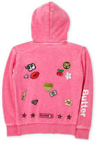 Butter Shoes Girls 7-16) Patched Up Zip-Up Fleece Hoodie