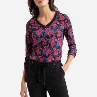 Anne Weyburn Floral Print Long-Sleeved T-Shirt