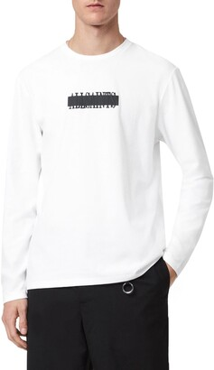 AllSaints Stamp Laminate Long Sleeve Graphic Tee