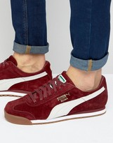 Puma Roma Trainers In Red 36354405
