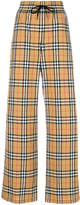 Burberry stripe detail check trousers
