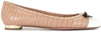 Aquazzura Moss croc-effect ballerina shoes