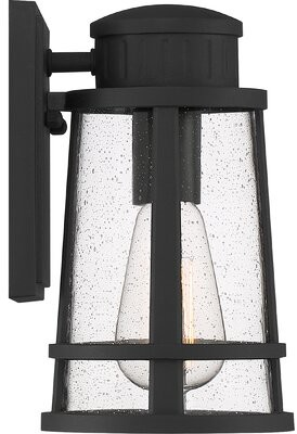 "Three Posts Lally Outdoor Wall Lantern Size: 9.5"" H x 5.75"" W"