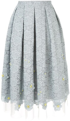 Onefifteen Pleated Lace Skirt