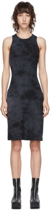 Raquel Allegra Black Tie-Dye Racer Rack Dress