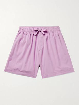 Tekla Organic Cotton-Poplin Pyjama Shorts